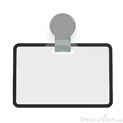 ID Badge Template Stock Images - Image: 24421384