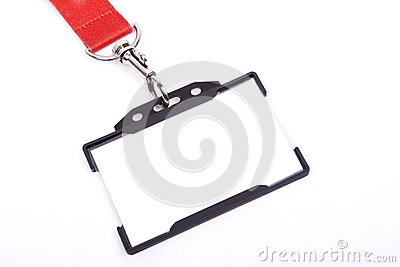 ID badge on white background