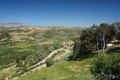 Ida Mountains in crete island