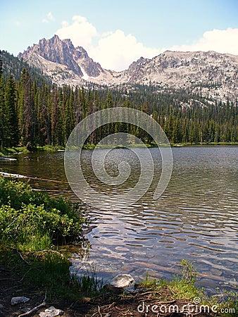 Free Idaho Mountain Lake Royalty Free Stock Images - 8232959