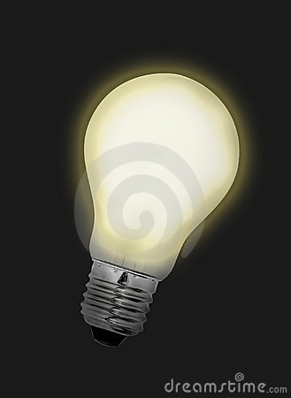 Free Idea Bulb Lights Up Royalty Free Stock Photography - 204747