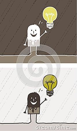 Idea colored cartoon