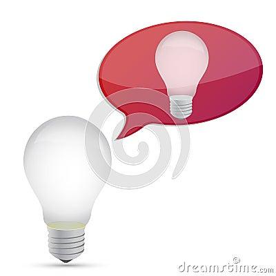 Idea concept illustration design lightbulb