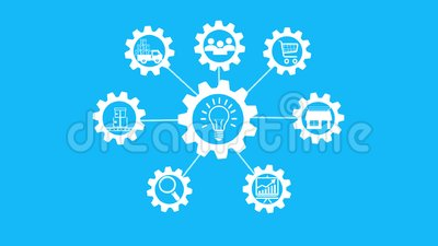 Idea di affari, moto di animazione dell'ingranaggio, concetto di partenza archivi video