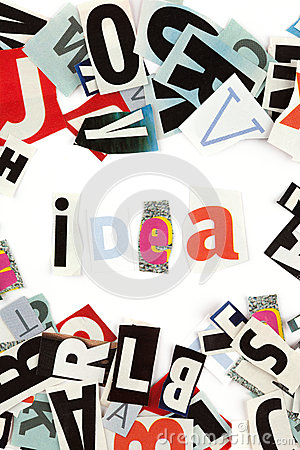 Idea Inscription Royalty Free Stock Images - Image: 25199769