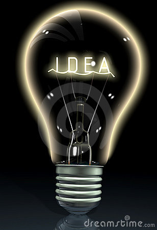 Idea on a light bulb