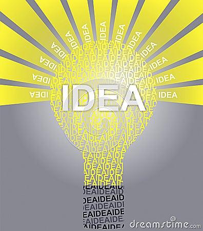 IDEA typographic bulb