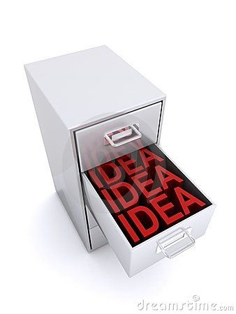 Ideas in drawer