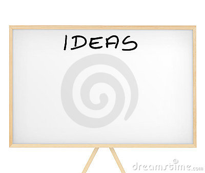 Ideas  sign on an empty board