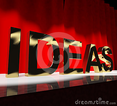 Ideas Word On Stage Showing Concepts