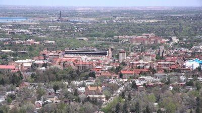 Ideia aérea da Universidade do Colorado Boulder filme