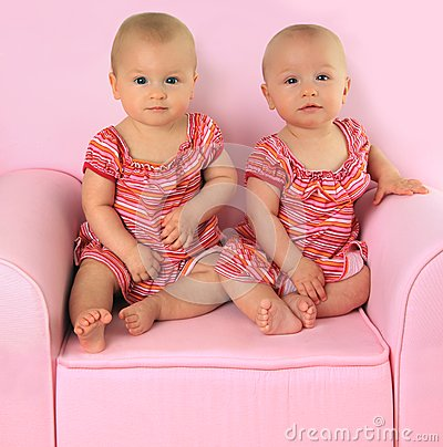 Identical twin girls