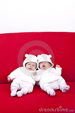Identical twin sisters