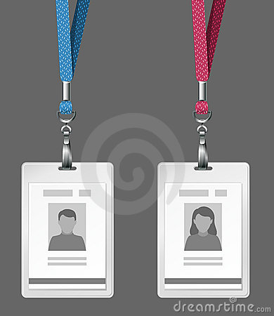 Identification cards template