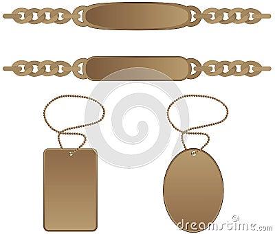 Identity tag bracelet