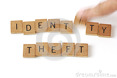 Identity Theft Wood Letters