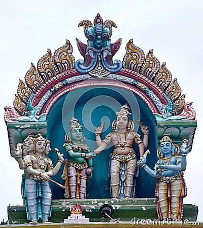 Idol at Hindu Balaji temple