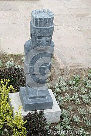 Free Idol Statue From Tiwanaku Stock Photography - 79149812
