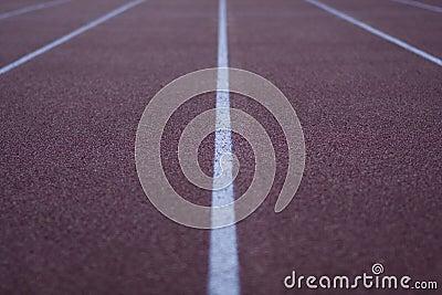 Idrotts- running stadionspår