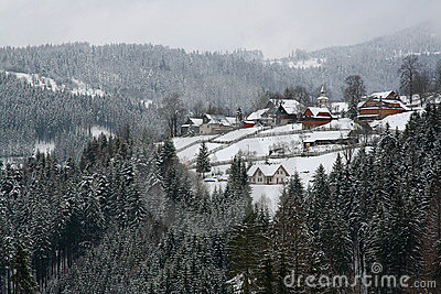 Idyllic alpine village in Switzerland