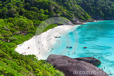 Idyllic bay of Similan islands