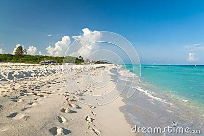 Idyllic beach in Playacar