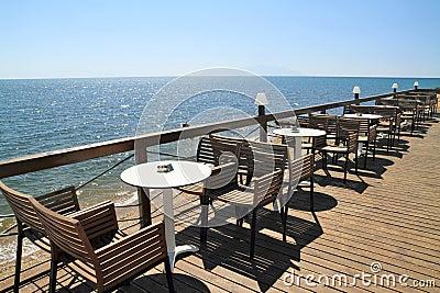 Idyllic cafe by the sea