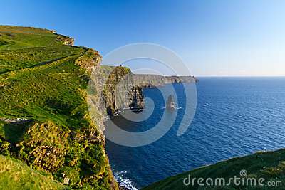 Idyllic Cliffs of Moher in Ireland