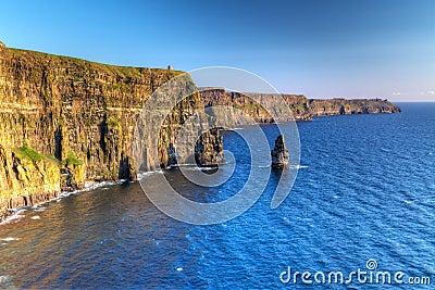 Idyllic Cliffs of Moher in Ireland