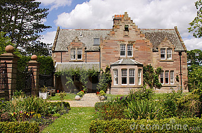 Idyllic country house and gardens