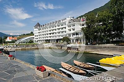 Idyllic fjord hotel