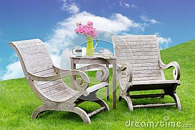Idyllic garden seating