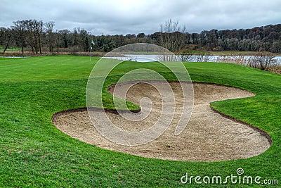 Idyllic golf course - HDR