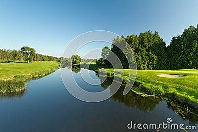 Idyllic golf course scenery