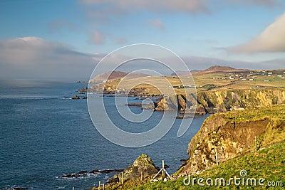 Idyllic irish coast scenery