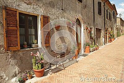 Idyllic Italian street, Tuscany