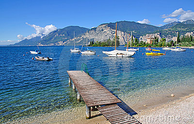 The idyllic lake garda