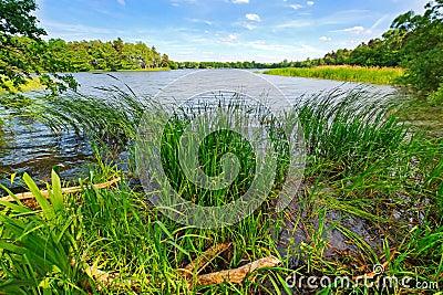 Idyllic lake scenery