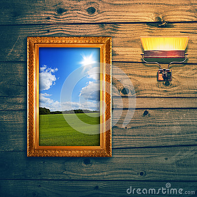 Idyllic landscape exposition