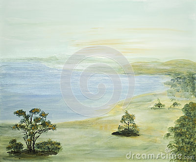 Idyllic Scene with Lake