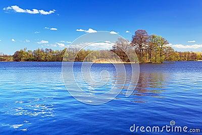 Idyllic scenery of the lake