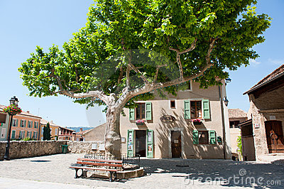 Idyllic square in the French Provence