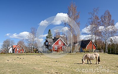Idyllic Swedish countryside landscape