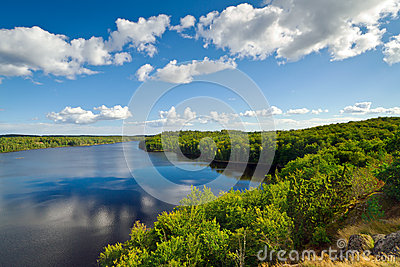Idyllic Swedish lake