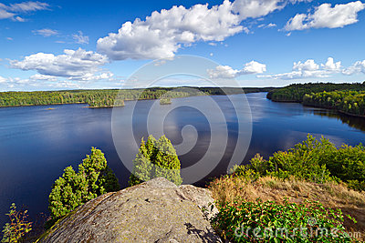 Idyllic Swedish lake in summer