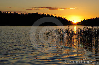 Idyllic Swedish sunset
