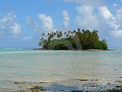 Idyllic tropical beach and atoll in Rarotonga