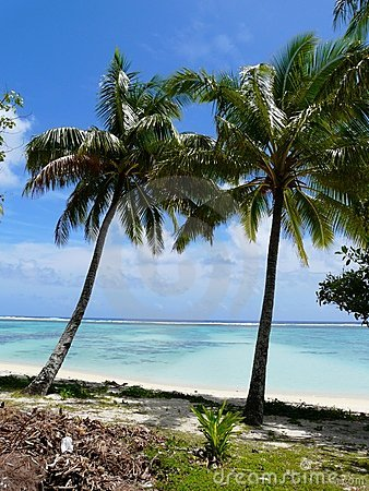 Idyllic tropical beach in Rarotonga