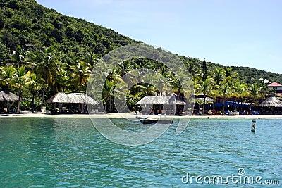 Idyllic tropical resort