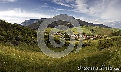 Idyllic village in Mountains